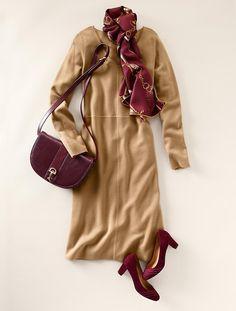 Talbots - Merino Wool V-Neck Dress |