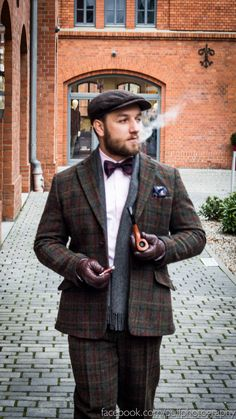 The Harris Tweed - Awesome with the pipe! ;-)