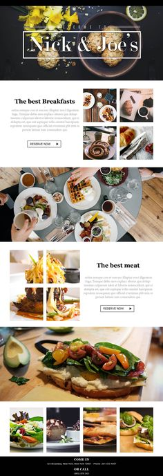 The Breakfast Email. Display pictures of your restaurant's breakfast dishes with our #EmailTemplates.
