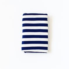 Navy Stripe Swaddle