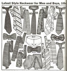 "1913 ""Kresge's Katalog, The Latest Style Neckwear for Men and Boys, 10c"""
