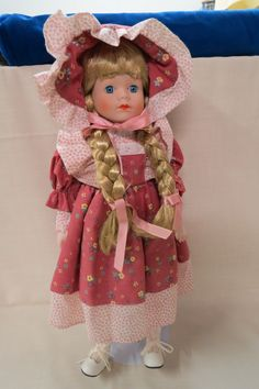 Vintage Heritage Mint Doll Porcelain Bisque Cloth Body Hand Painted Custom Made Clothing With Stand by KansasKardsStudio on Etsy