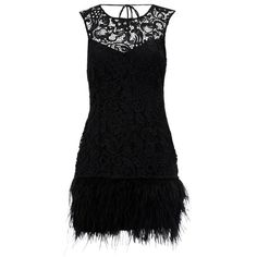 So chic lace & feather!