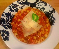Copy Cat Olive Garden Pasta E Fagioli -- I'm making this for dinner tonight, One of my favorite/easy recipes.  I'm using veggie Italian sausage in place of ground beef to appease the husband.