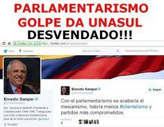 — ATENÇÃOOOO!!! ESTA AQUI!! PARLAMENTARISMO – GOLPE DA UNASUL/FORO DE SAO PAULO DESVENDADO! COMPARTILHEMMM! CHAMEM PELAS FORÇAS ARMADAS!!! PARLAMENTARISMO É GOLPE CONTINENTAL DO FORO DE…
