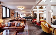 The Hoxton, Amsterdam: High design & hipster hotel, restaurant & lounge, with canal views and stunningly beautiful interior design.
