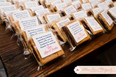wedding favor s'mores kit
