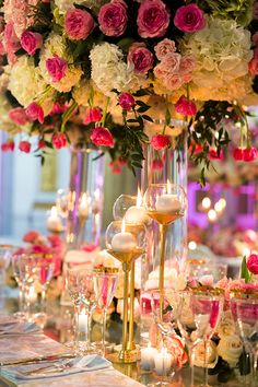 What better place for planning the perfect pink wedding day than Montreal's most prestigious and historic reception and event venues? Romantic Wedding Receptions, Tent Wedding, Glamorous Wedding, Wedding Art, Luxury Wedding, Wedding Colors, Wedding Table Centerpieces, Wedding Reception Decorations, Floral Centerpieces
