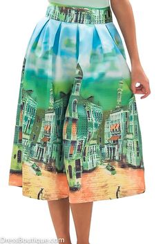 Get a touch of Europe with this Venetian skirt for only $44. Online at www.DressBoutique.com