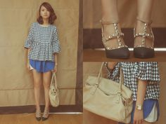 Bellevior Top, Kate Katy Shoes, Aland Skirt, Kate Spade Bag, Casio Watch