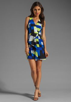 MILLY Rectangle Print Anita Cascade Dress in Multi at Revolve Clothing - Free Shipping!