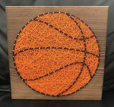 Custom Basketball String Art Sign Sports Art Kids Room Boy Gift Gift for Him Wall Decor Handmade Made to order Fathers Day present Basketball Crafts, Basketball Decorations, Custom Basketball, Football Soccer, Soccer Ball, Personalized Basketball, Basketball Quotes, Basketball Court, Kids Room Art