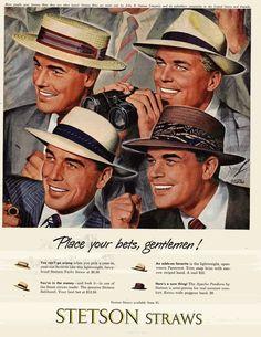 Anuncio sombreros Stetson para verano, 1949