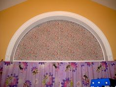 no sew - Arch Window Cover (blocks light and I can customize the fabric to whatever I want!)