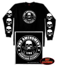 2nd Amendment Long Sleeve Skull T-shirt