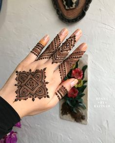 Explore latest Mehndi Designs images in 2019 on Happy Shappy. Mehendi design is also known as the heena design or henna patterns worldwide. We are here with the best mehndi designs images from worldwide. Henna Hand Designs, Eid Mehndi Designs, Mehndi Designs Finger, Modern Mehndi Designs, Mehndi Designs For Fingers, Mehndi Design Pictures, Latest Mehndi Designs, Henna Tattoo Designs, Tattoo Ideas