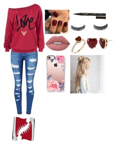 """""""Proloque"""" by aninha-brigagao on Polyvore featuring moda, WithChic, Converse, Smith & Cult, Lime Crime, Betsey Johnson, Louis Vuitton e Casetify"""