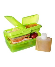 Loving this Green 50-Oz. Slimline Quaddie Lunch Box & Water Bottle on #zulily! #zulilyfinds