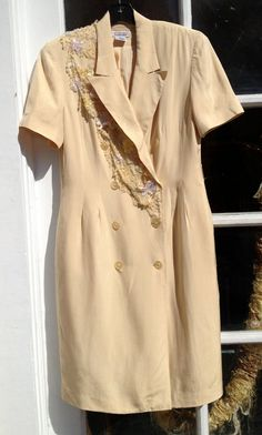 Vintage suit dress with embellishment OOAK by adelightdesign, $25.00