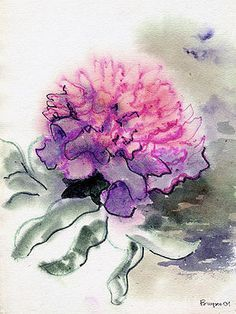 Image result for purple and pink carnation tattoo