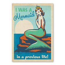 Retro illustration // I was a mermaid in a previous life! Mermaid Wall Art, Mermaid Fairy, Mermaid Tale, Mermaid Sign, Mermaid Prints, Mermaid Poster, Unicorns And Mermaids, Real Mermaids, Mermaids And Mermen