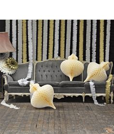 Shop games, gifts, home and party accessories at Talking Tables for those who love to gather. Honeycomb Decorations, Ball Decorations, Decoration Baroque, Diy Decoration, Tissue Balls, Honeycomb Paper, Paper Balls, Christmas Paper, Xmas