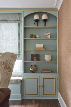 Use the Rex painted gold to create this sophisticated look.   House of Turquoise: Diana Weinstein Design