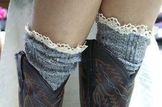 lace with cowboy boots... :)