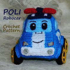 Crochet Pattern. Poli Robocar von InspiredCrochetToys auf Etsy