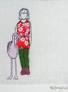 My flamingo friend by Caroline Austin of Two Turtle Doves