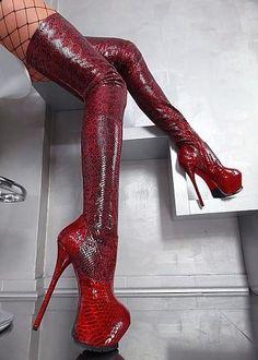 Red platform snake