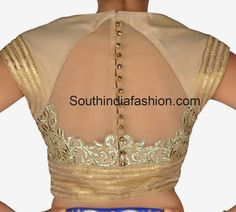 High Neck Blouse with Net Back ~ Celebrity Sarees, Designer Sarees, Bridal Sarees, Latest Blouse Designs 2014