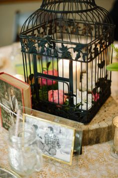 I am going to use this idea as a home decor for the birdcage from our wedding.