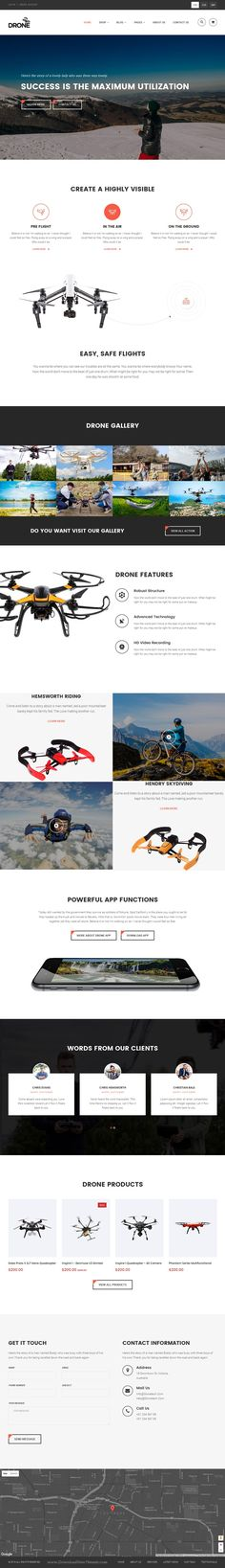 Drone is stylish responsive and easy to use #Shopify theme for Single Product #eCommerce #website. Download Now!