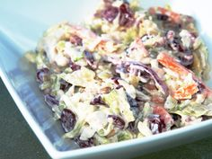 Blue Cheese Coleslaw with cranberries