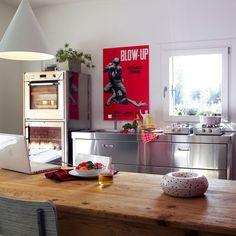 """Zeilen- Küche aus Edelstahl CUCINA 190 """"BLOW UP"""" by ALPES-INOX ..."""
