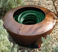 Conceal And Store Your Garden Hose In A Decorative Hose Pot Holder | Garden  Hose And Gardens