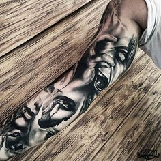 Stunning sleeve tattoo!