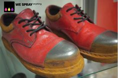 DM make-over, amazing the items customers send into us but as we say WeSprayAnything. Bespoke, Sayings, Amazing, Sneakers, Shoes, Fashion, Taylormade, Tennis, Moda