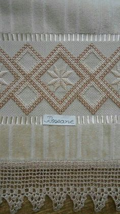 Discover thousands of images about Hardanger Embroidery Handmade Types Of Embroidery, Ribbon Embroidery, Embroidery Patterns, Hardanger Embroidery, Cross Stitch Embroidery, Bargello Patterns, Doily Patterns, Dress Patterns, Swedish Weaving
