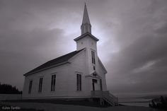 The town church at Highland Village on Cape Breton Island, Nova Scotia by Jim Tardio