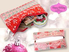 Happy Holidays with FreeSpirit & Rowan: Zippered Pouch & Pocket Tissue Cover | Sew4Home