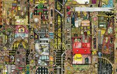Colin Thompson Poster Print Wall Art Print entitled Pepper Dreams, None Gotham City, Mind Puzzles, Wall Art Prints, Poster Prints, Thing 1, Dream Wall, Polychromos, Sale Poster, Children's Book Illustration