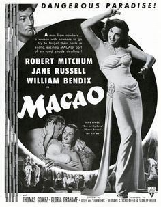 Robert Mitchum. Macao.