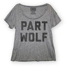 Fab.com | Part Wolf Tee Women's