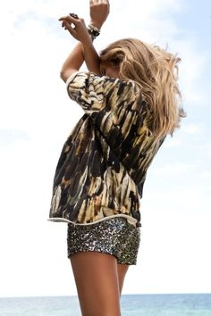 Love the shirt/sequin combo