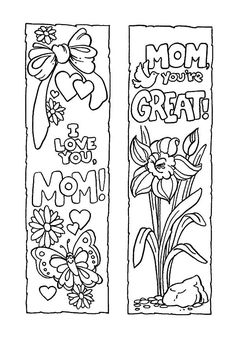 Bookmarks, : Mother's Day Bookmarks