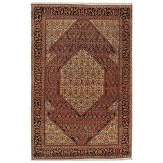 Antique circa 1880 Persian Sarouk Rug 1880 DIMENSIONS 4 ft. 2 in.Wx6 ft. 7 in.L 127 cmWx201 cmL