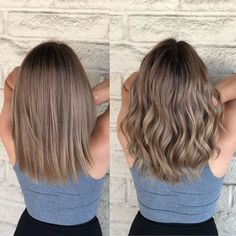 Beige brondes Cut and color correction by Haare /Frisuren Brown Hair Balayage, Hair Color Balayage, Hair Highlights, Bronde Haircolor, Caramel Highlights, Bronde Lob, Balayage Straight, Blondish Brown Hair, Babylights Brunette
