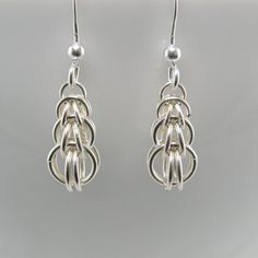 Tiny Sterling Silver Raindrop Earrings